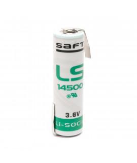 SAFT LS14500 / AA Lithium mit Lötfahne Z-Form  - 3.6V